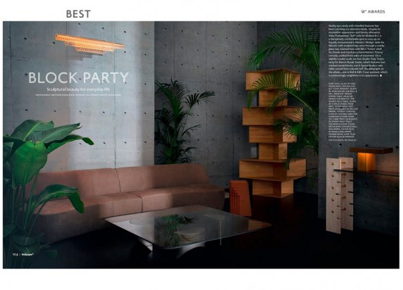 "Totem Shelf of Driade wins""Best Block Party"" prize by @wallpapermag"